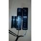 afstandsbediening plus controller met siliconen case voor Wii / Wii U (zwart)