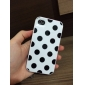 Detachable Pink Frame with White Polka Dots Back Cover Hard Case for iPhone 4/4S