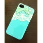 Bow with Beads and Beautiful Lace Covered Hard Case with Glue for iPhone 4/4S (Assorted Colors)