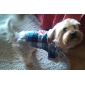 Chien Tee-shirt Pulls à capuche Bleu Vêtements pour Chien Hiver Printemps/Automne Tartan Mode