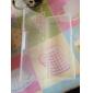 De plástico transparente Nail Art Caixa de armazenamento da ferramenta (19x7.5x4cm)