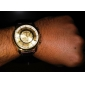 Masculino Relógio Elegante Quartzo PU Banda Marrom
