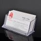 σαφής πλαστική περίπτωση το όνομα του κατόχου της κάρτας θήκη για επαγγελματικές κάρτες