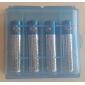 AA / AAA батареи Защитный чехол держатель Голубой