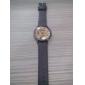 Unisex analogt kvartsarmbåndsur med store nummer og PU-rem (assorterte farger)