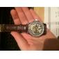 Orologio automatico, da uomo, quadrante ad incisione cava, cinturino in pelle PU