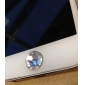 Toophone® JOYLAND 3.5mm Crystal Diamond Circular Button Sticker for iPhone and Samsung