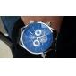Relógio de Pulso Masculino Auto-Mecânico Com Pulseira de Silicone Preta (Cores Diversas)