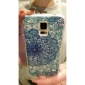 Zircon Flowers Pattern Embossment Back Case for Samsung Galaxy S5 I9600
