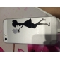 Kiss Woman Pattern Transparent TPU Back Case for iPhone 5/5S