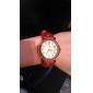 Mulheres Relógio de Moda Quartzo PU Banda Preta Azul Vermelho Laranja Marrom Bege Laranja Bege Marron Vermelho Azul