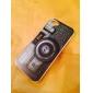 черный узор камера жесткий футляр для iPhone 5 / 5S