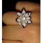 Anéis Pesta / Diário / Casual Jóias Liga / Resina Feminino Anéis Statement 1pç,Ajustável Dourado / Prateado
