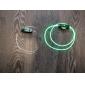 플래시 스틱 녹색 빛을 방수 LED 신발 끈 (1 쌍)을 성장