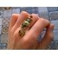 dr femmes. pêche aura petit renard anneau pendentifs coeur de léopard de la couronne