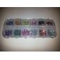 3000PCS 12-Color 2mm Wheel Nail Art Glitter Tips Rhinestone Decorations