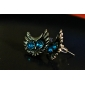 Stud Earrings Alloy Simulated Diamond Animal Shape Owl Red Blue Jewelry Daily