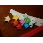 2 x 90 unidades de color fluorescente materiales origami estrella de la suerte (color al azar)