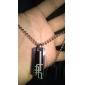 Personalized Jewelry Gift del acero inoxidable de tres Collar colgante grabado Capa con 60cm Cadena