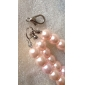 Pink Three Rows Pearl Pet Necklace(Chain Length: 20+6 CM)