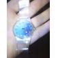 Women's Fantasy Sky Pattern Transparent Band Quartz Analog Wrist Watch