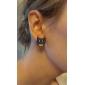 Boucles d'oreille goujon Alliage Imitation de diamant Forme d'Animal Chouette Bijoux Quotidien