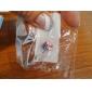 kvinders forsølvede rustfrit stål rhinestones navle / øre piercing (tilfældig farve)