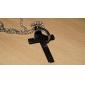 мода титана Стальной крест библии слова кулон ожерелье lureme®men в