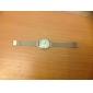 Masculino Relógio de Pulso Quartz Aço Inoxidável Banda Casual Prata marca