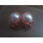 Women's New Stylish Simple Bow Pearl Earrings E617