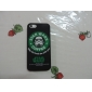 Mask Man Coffee Pattern Plastic Coating PC Hard Back Cover Case for iPhone 5/5S (Assorted Colors)