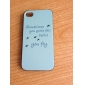 Simple Letters and Swallow Pattern PC Hard Case for iPhone 4/4S