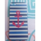 Blue and White Anchor Pattern Hard Case for iPhone 5C