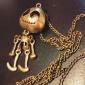 antikk kobber vintage skjelett mann kjede (tilfeldig farge)