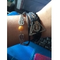 Women Wrap Bracelet Vintage Bracelet Alloy Leather Inspirational Wings / Feather White Black Brown Gold-Black Jewelry