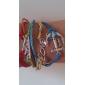 Femme Bracelets Original Multicouches Tressé bijoux de fantaisie Cuir Alliage Amour Ancre Bijoux Pour Soirée Quotidien Décontracté
