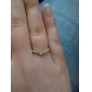Love Heart-Shaped Gold Full Diamond V-Shaped Tail Ring Is Not Adjustable Ring 2013 New