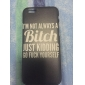 Black English Pattern hard Case for iPhone 6