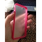 DF Multi-Color Soft TPU Frame Gel Translucent Scrub PC Hard Back Case for iPhone 5/5S(Assorted Color)