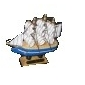 10x10cm Wooden Sailing Boat Desk Decoration (Random Style)
