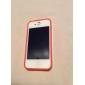 Fluorescent Effect After Lighting Transparent Back Case for iPhone 4/4S (Assorted Color)
