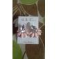 Серьги-гвоздики Драгоценный камень Резина Сплав Мода Белый Синий Розовый Бижутерия Повседневные