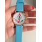 Женские Модные часы Кварцевый PU Группа Белый Синий Зеленый Розовый Роуз