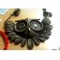 Korean Fashion Jewelry retro bronze owl pendant sweater chain N162