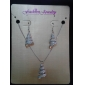 Fashion Spiral Shape Shinning Jewelry Set(1 Set)