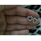 персик сердца выдолбленные серьги женские e628