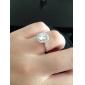 Массивные кольца Обручальное кольцо Любовь европейский Свадьба Циркон Цирконий Серебрянное покрытие Позолота Искусственный бриллиант