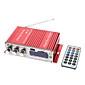 2 canales de 80W Hi-Fi Amplificador Stereo Reproductor de MP3 para Autos Motos (FM / SD / USB)