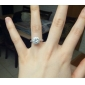 Engagement Ring Love Bridal Zircon Cubic Zirconia Silver Plated Gold Plated Imitation Diamond Jewelry for Wedding Engagement Gift Anniversary