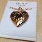 Feminino Colares com Pendentes Medalhões Colares Cobre Chapeado Dourado Amor Moda Dourado Jóias Para Diário Casual 1peça